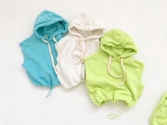 CONCOCTER - Korean Children Fashion - #Kfashion4kids - Kock Kock Kock Hoody Vest Bottom Set - 4