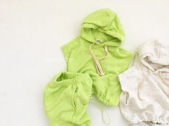 CONCOCTER - Korean Children Fashion - #Kfashion4kids - Kock Kock Kock Hoody Vest Bottom Set - 6