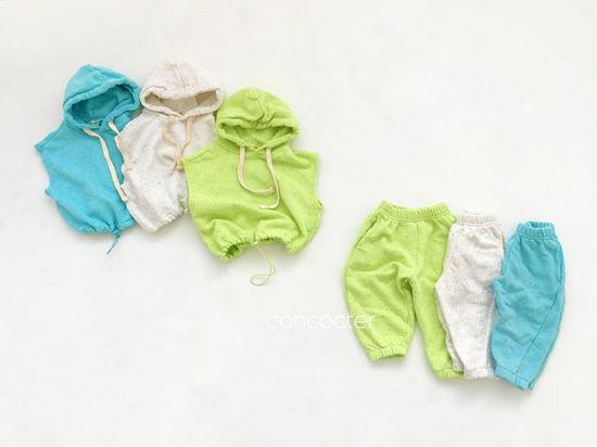 CONCOCTER - Korean Children Fashion - #Kfashion4kids - Kock Kock Kock Hoody Vest Bottom Set - 9