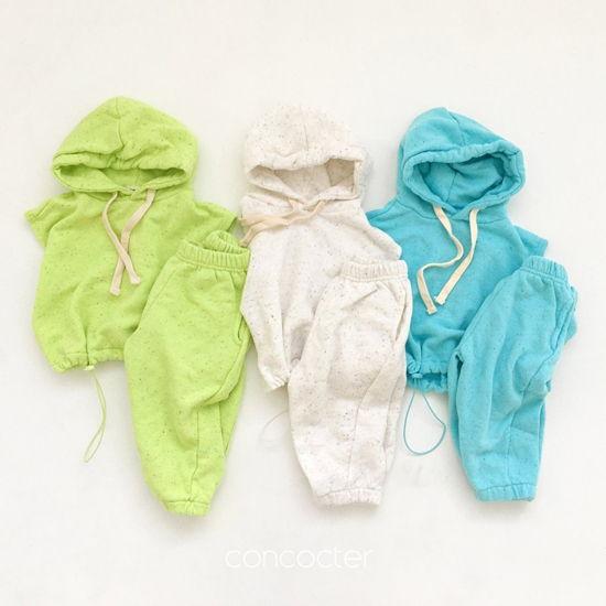 CONCOCTER - BRAND - Korean Children Fashion - #Kfashion4kids - Kock Kock Kock Hoody Vest Bottom Set