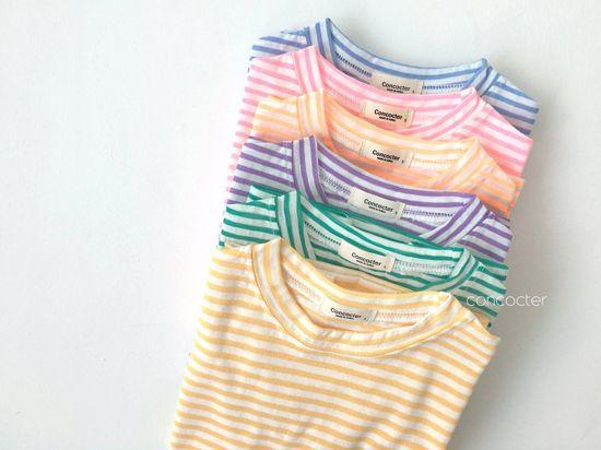 CONCOCTER - Korean Children Fashion - #Kfashion4kids - Bbom Bbom Stripes Twin Tee 1+1 - 3
