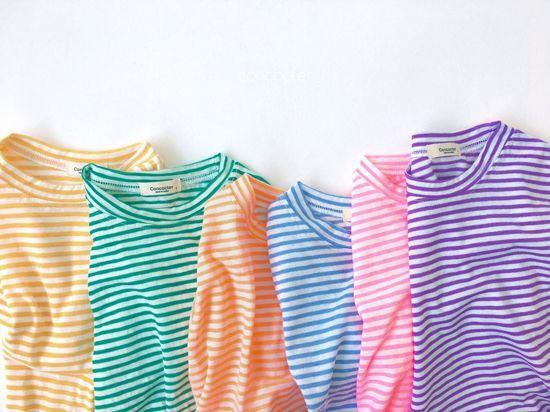CONCOCTER - Korean Children Fashion - #Kfashion4kids - Bbom Bbom Stripes Twin Tee 1+1 - 5