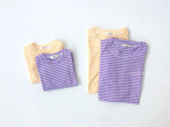 CONCOCTER - Korean Children Fashion - #Kfashion4kids - Bbom Bbom Stripes Twin Tee 1+1 - 6