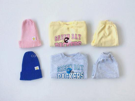CONCOCTER - Korean Children Fashion - #Kfashion4kids - Packers Top Shorts Set