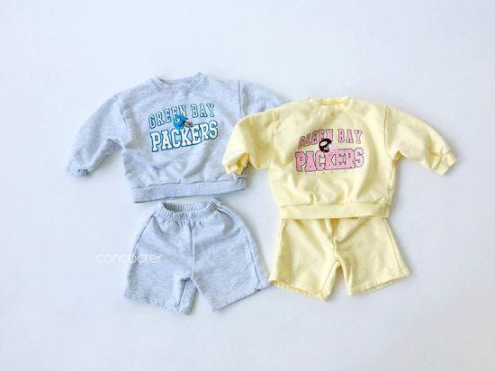 CONCOCTER - Korean Children Fashion - #Kfashion4kids - Packers Top Shorts Set - 2