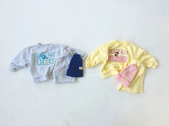 CONCOCTER - Korean Children Fashion - #Kfashion4kids - Packers Top Shorts Set - 3