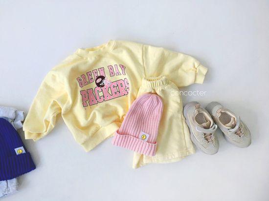 CONCOCTER - Korean Children Fashion - #Kfashion4kids - Packers Top Shorts Set - 6