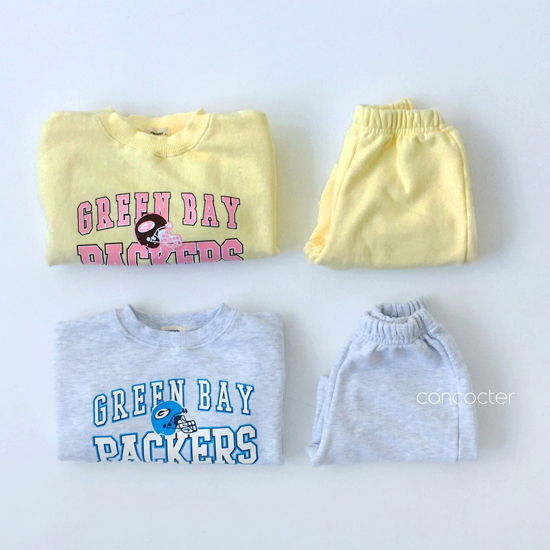CONCOCTER - BRAND - Korean Children Fashion - #Kfashion4kids - Packers Top Shorts Set