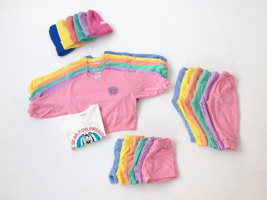 CONCOCTER - Korean Children Fashion - #Kfashion4kids - Very Good Sweatshirt+Tee+Shorts+Pants Set - 3