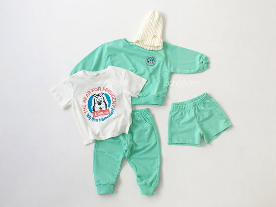 CONCOCTER - Korean Children Fashion - #Kfashion4kids - Very Good Sweatshirt+Tee+Shorts+Pants Set - 4