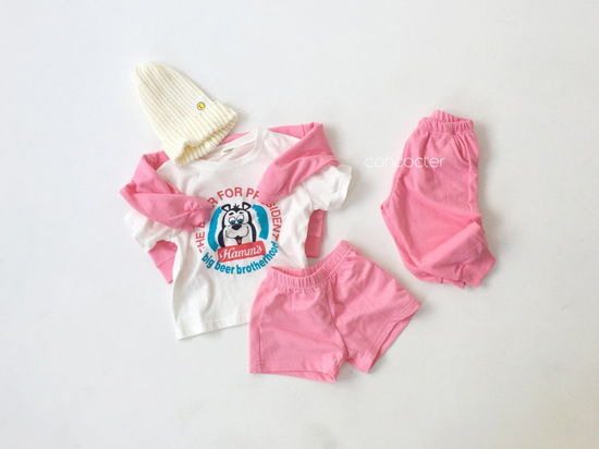 CONCOCTER - Korean Children Fashion - #Kfashion4kids - Very Good Sweatshirt+Tee+Shorts+Pants Set - 5