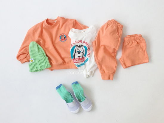 CONCOCTER - Korean Children Fashion - #Kfashion4kids - Very Good Sweatshirt+Tee+Shorts+Pants Set - 6