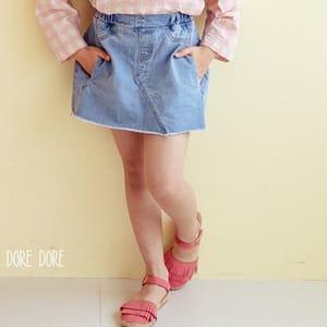 DORE DORE - BRAND - Korean Children Fashion - #Kfashion4kids - Juicy Denim Skirt Pants
