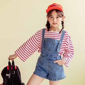 DORE DORE - BRAND - Korean Children Fashion - #Kfashion4kids - Jump Dungarees Shorts