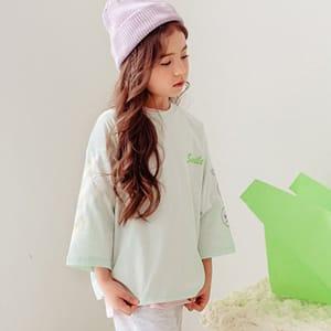 DORE DORE - BRAND - Korean Children Fashion - #Kfashion4kids - Three Smile Tee