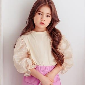 DORE DORE - BRAND - Korean Children Fashion - #Kfashion4kids - Shine Puff Tee