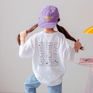 DORE DORE - BRAND - Korean Children Fashion - #Kfashion4kids - Box Smile Tee