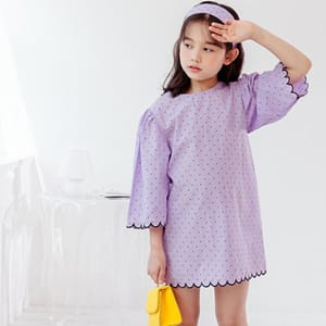 DORE DORE - BRAND - Korean Children Fashion - #Kfashion4kids - Dots Wave One-piece