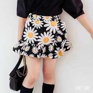 DORE DORE - BRAND - Korean Children Fashion - #Kfashion4kids - Daisy Frill Skirt Pants