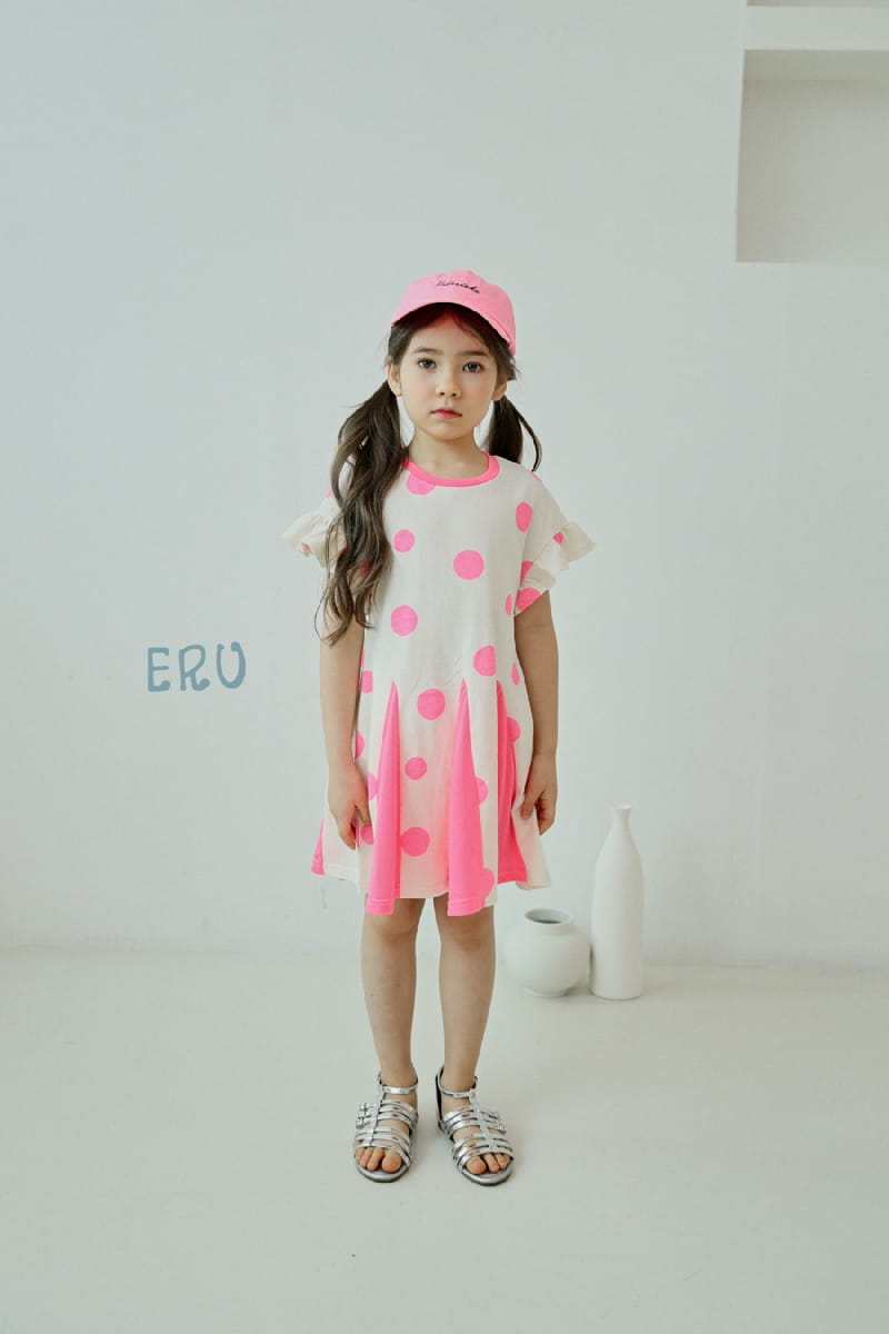 E.RU - Korean Children Fashion - #Kfashion4kids - Dots One-piece - 2