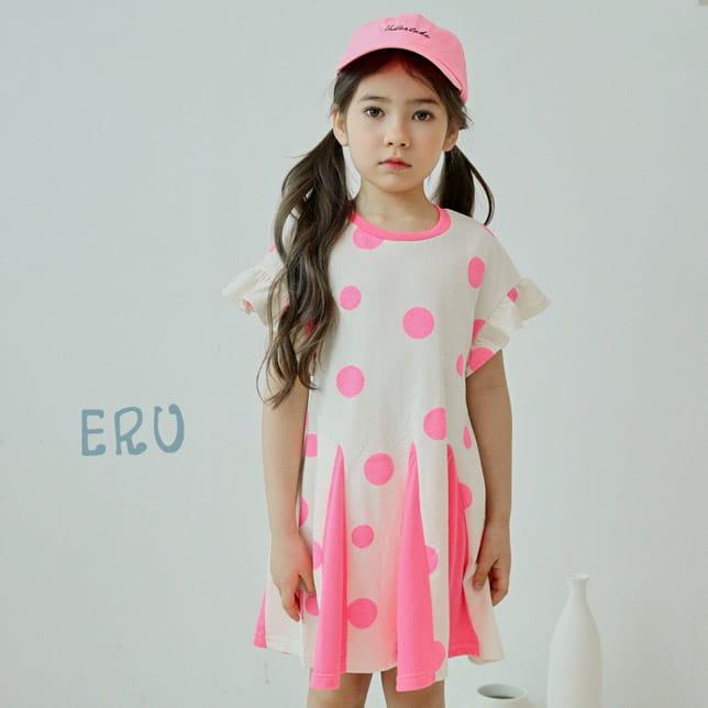 E.RU - BRAND - Korean Children Fashion - #Kfashion4kids - Dots One-piece