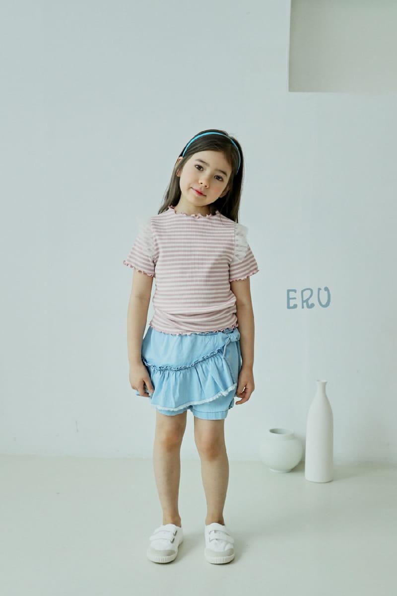 E.RU - Korean Children Fashion - #Kfashion4kids - Denim Frill Pants