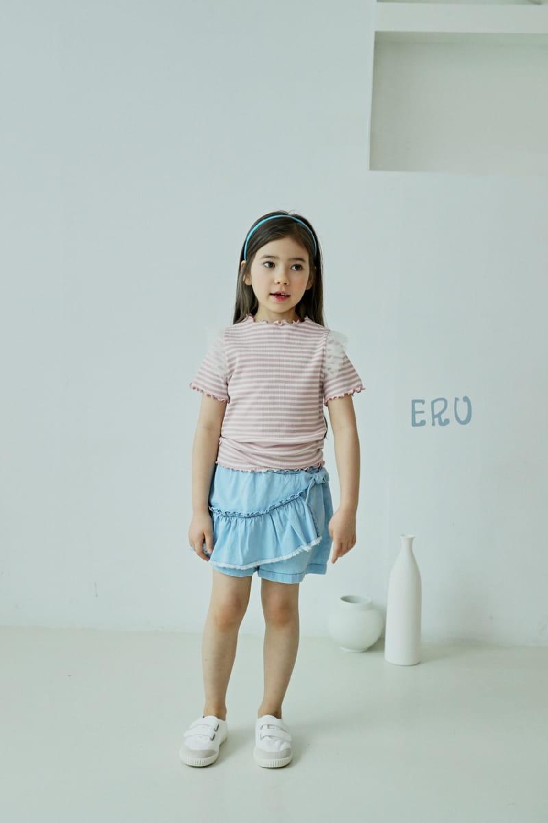 E.RU - Korean Children Fashion - #Kfashion4kids - Denim Frill Pants - 2