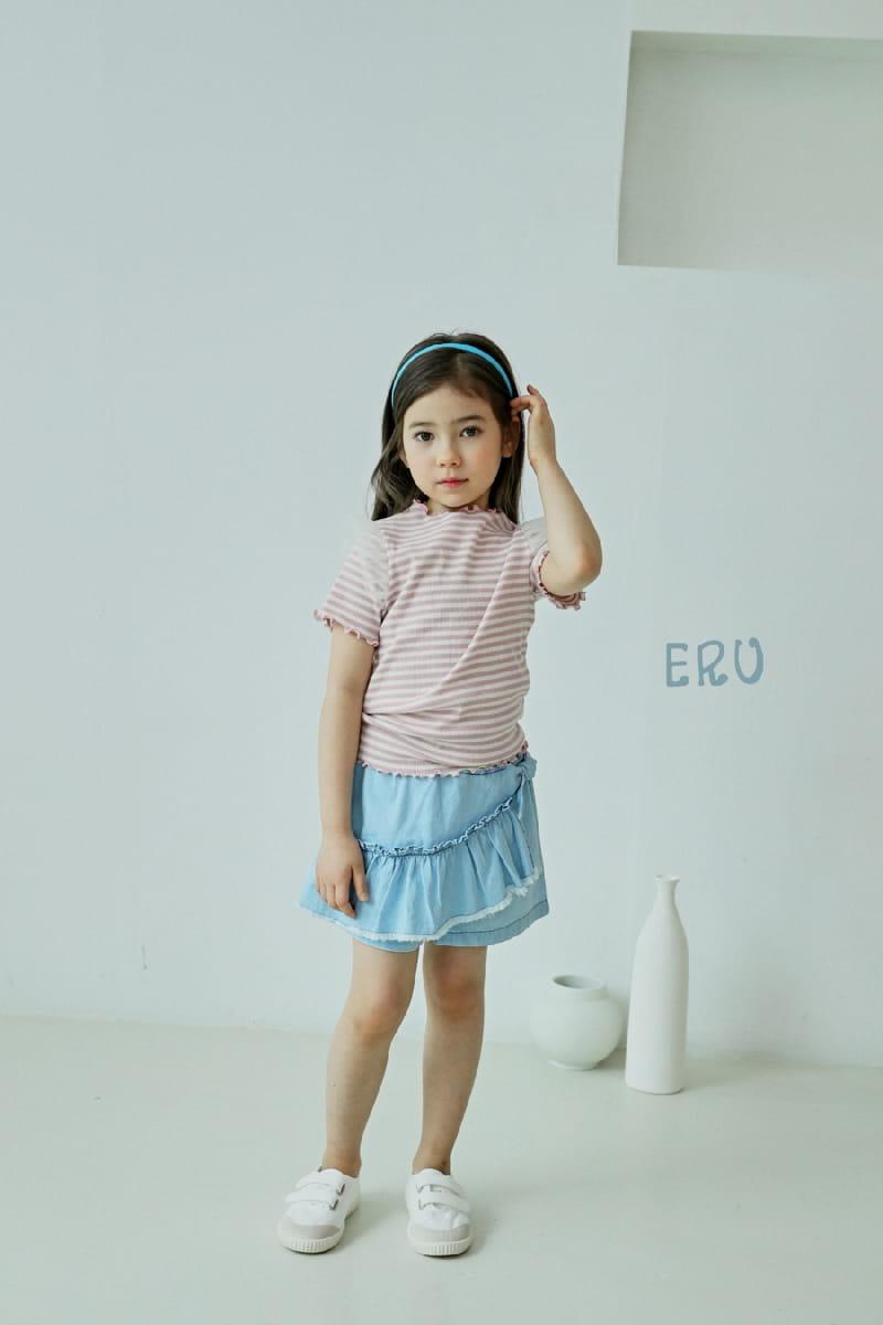 E.RU - Korean Children Fashion - #Kfashion4kids - Denim Frill Pants - 3