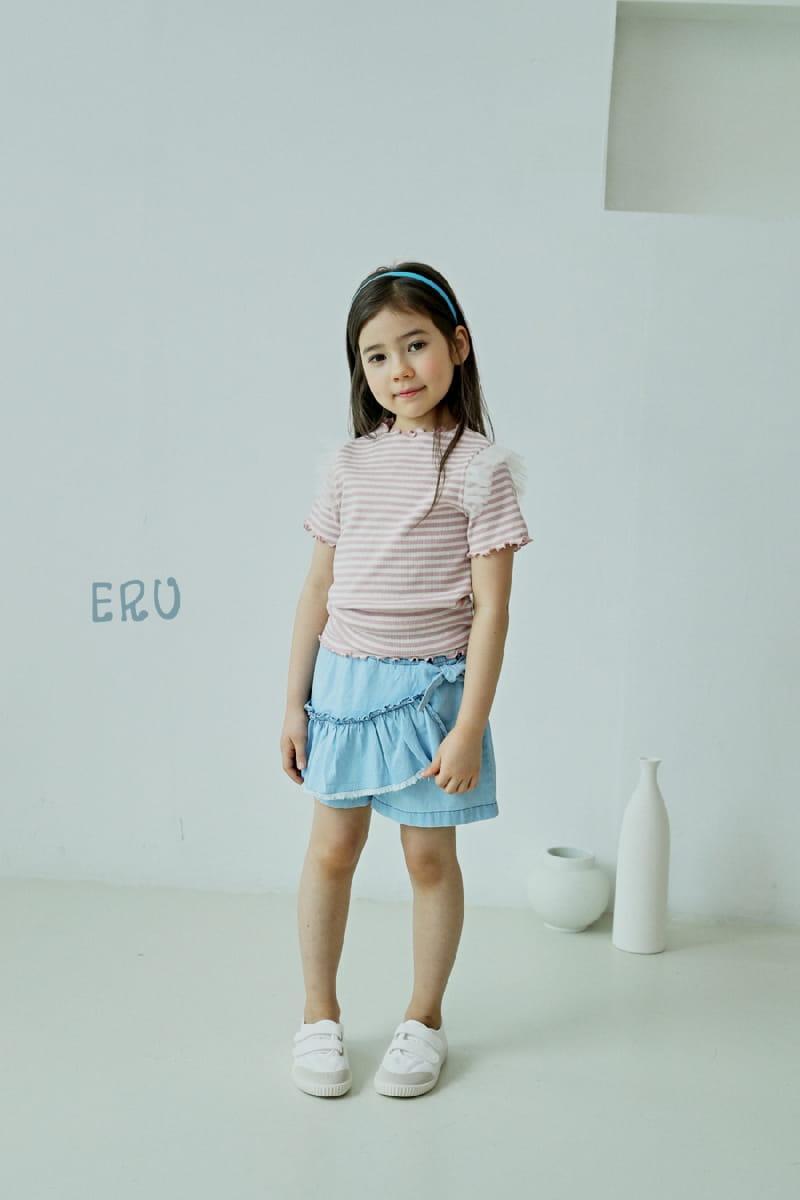 E.RU - Korean Children Fashion - #Kfashion4kids - Denim Frill Pants - 4