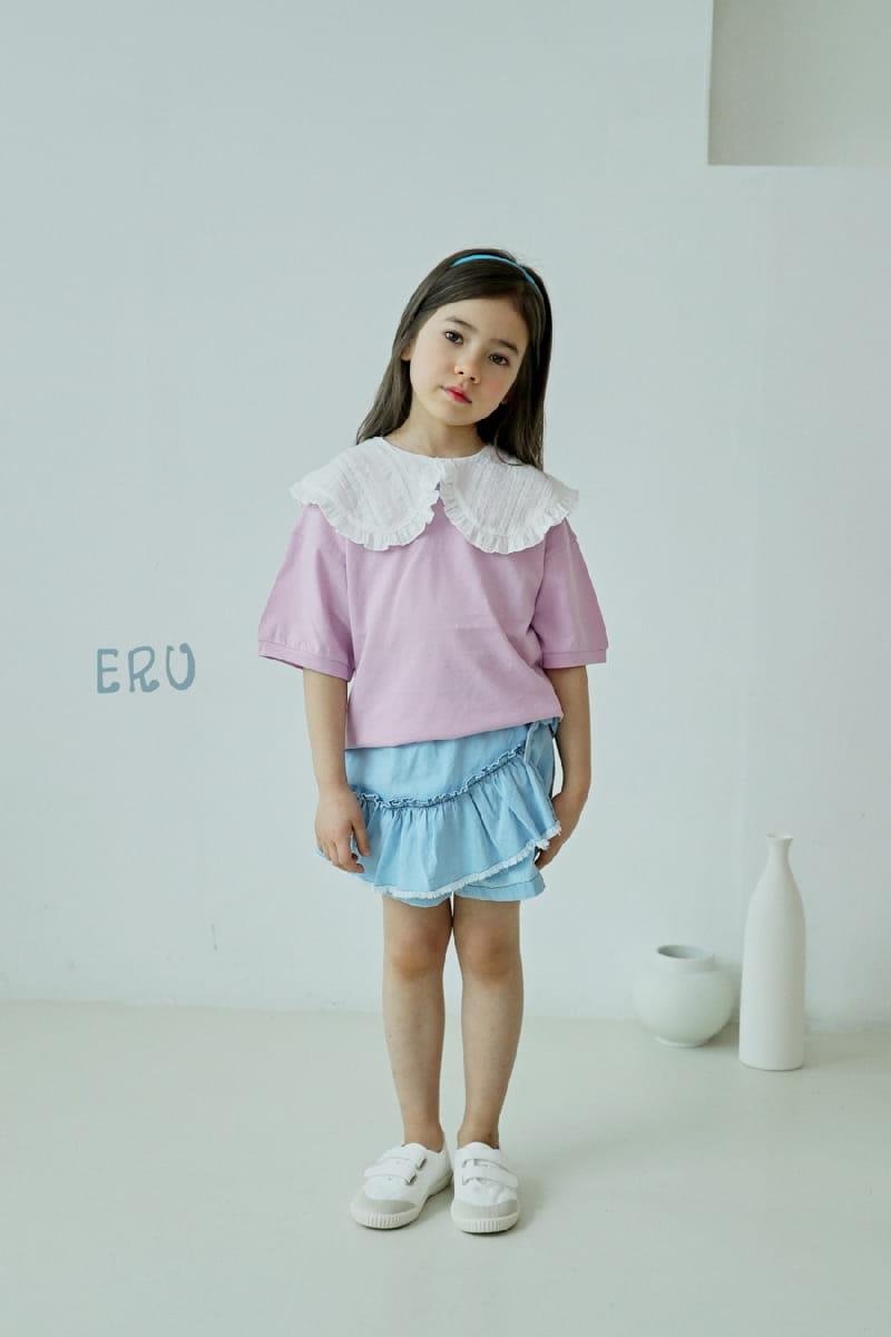 E.RU - Korean Children Fashion - #Kfashion4kids - Denim Frill Pants - 5