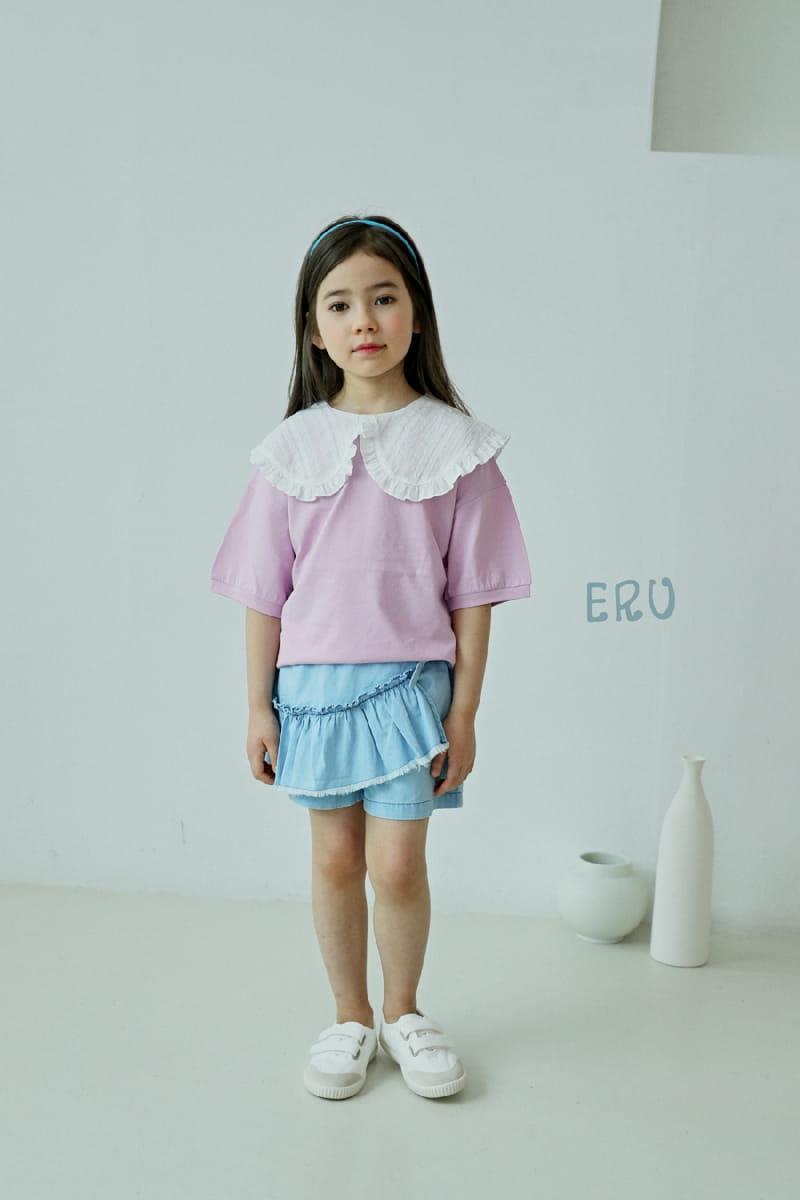 E.RU - Korean Children Fashion - #Kfashion4kids - Denim Frill Pants - 6