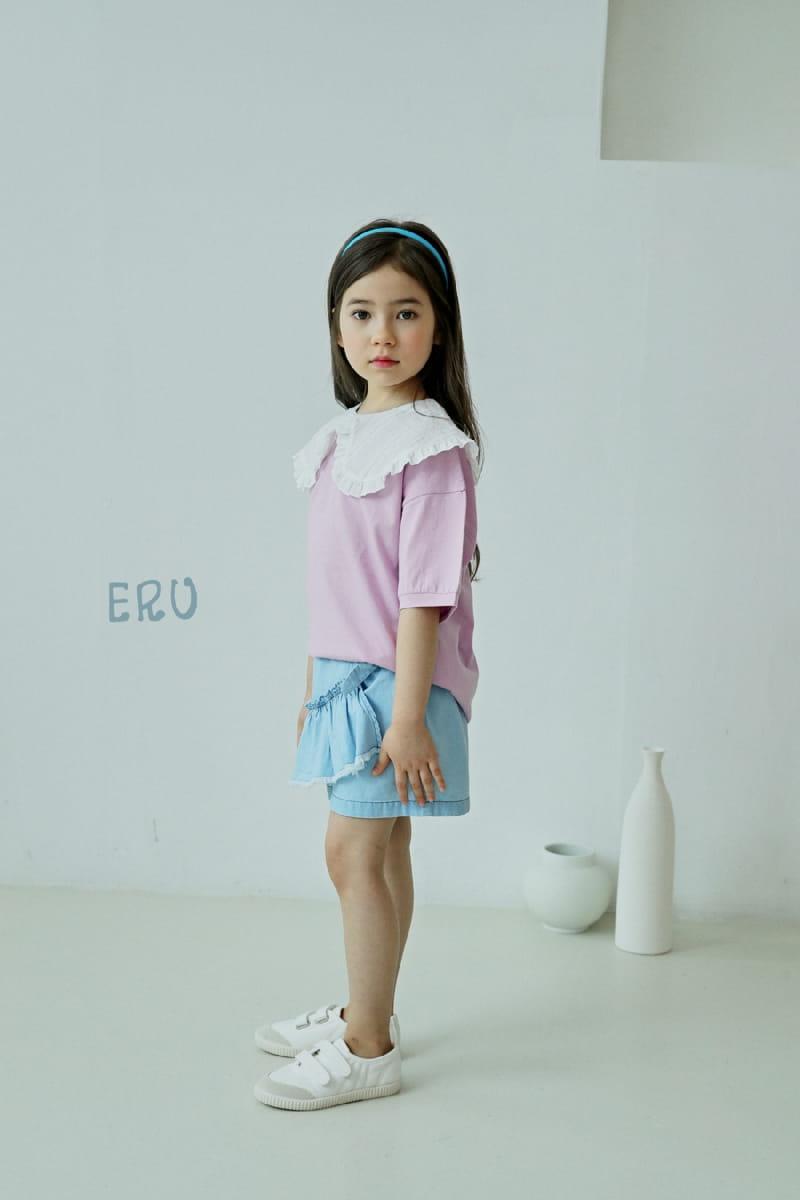 E.RU - Korean Children Fashion - #Kfashion4kids - Denim Frill Pants - 7