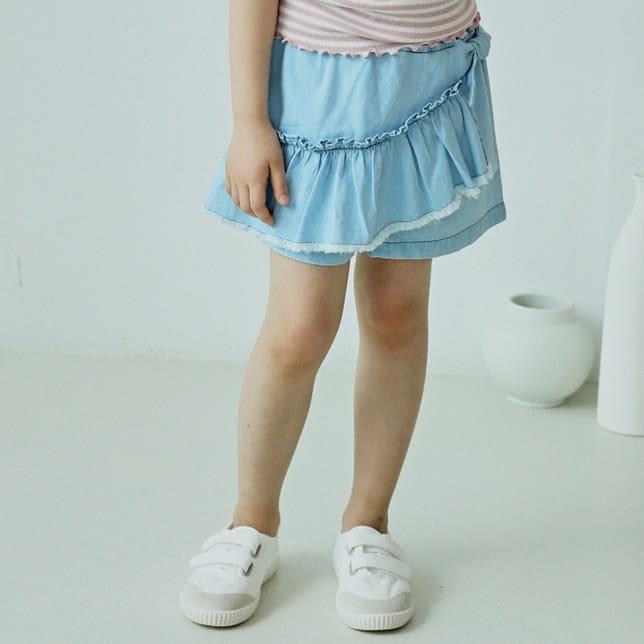 E.RU - BRAND - Korean Children Fashion - #Kfashion4kids - Denim Frill Pants