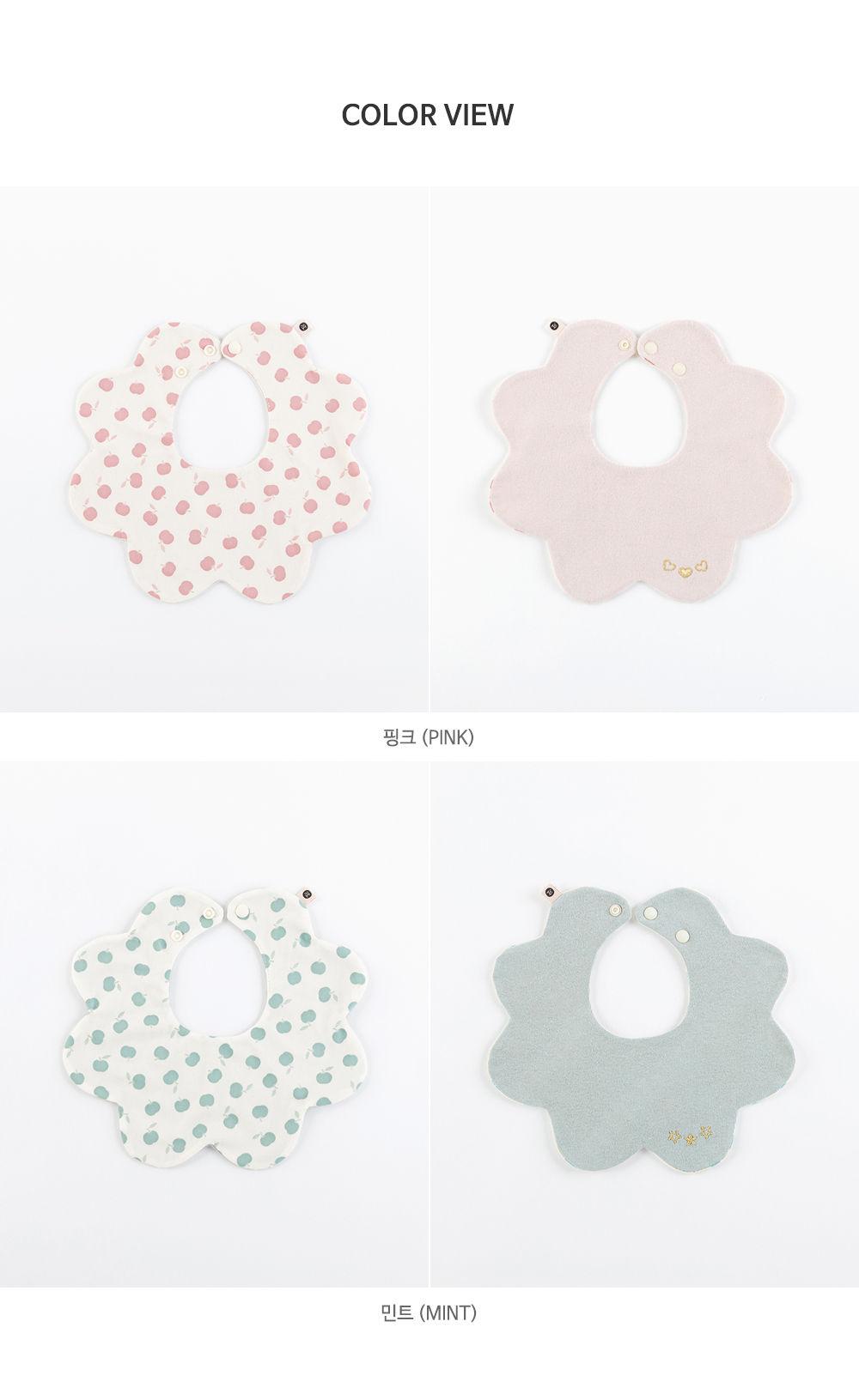 HAPPY PRINCE - Korean Children Fashion - #Kfashion4kids - Apple Baby Reversible Wave Bib - 10