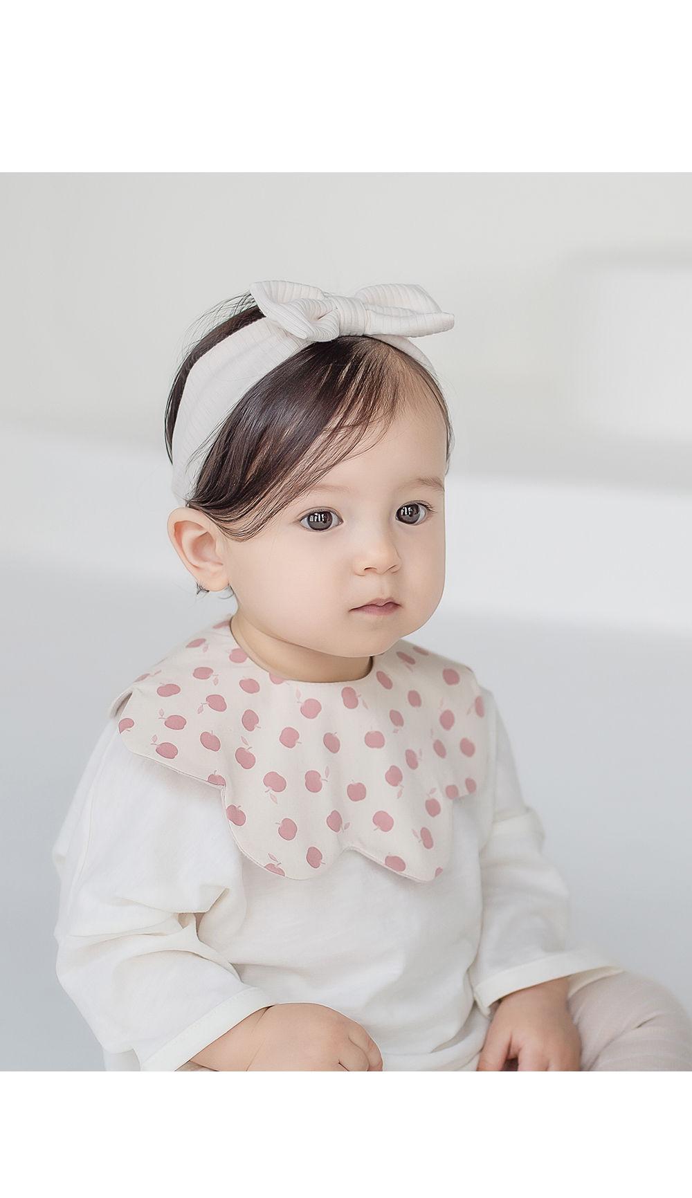 HAPPY PRINCE - Korean Children Fashion - #Kfashion4kids - Apple Baby Reversible Wave Bib - 2