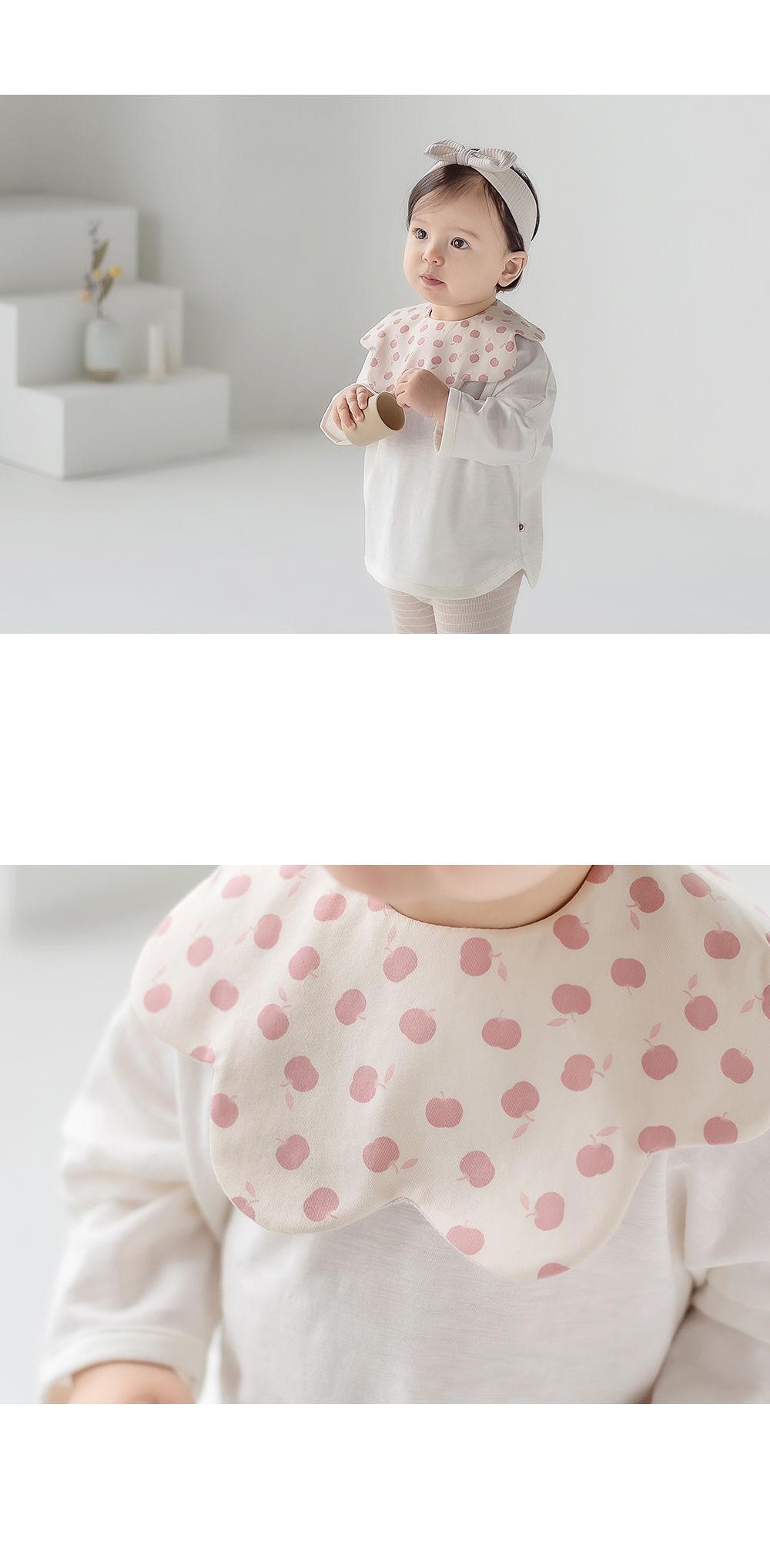 HAPPY PRINCE - Korean Children Fashion - #Kfashion4kids - Apple Baby Reversible Wave Bib - 4