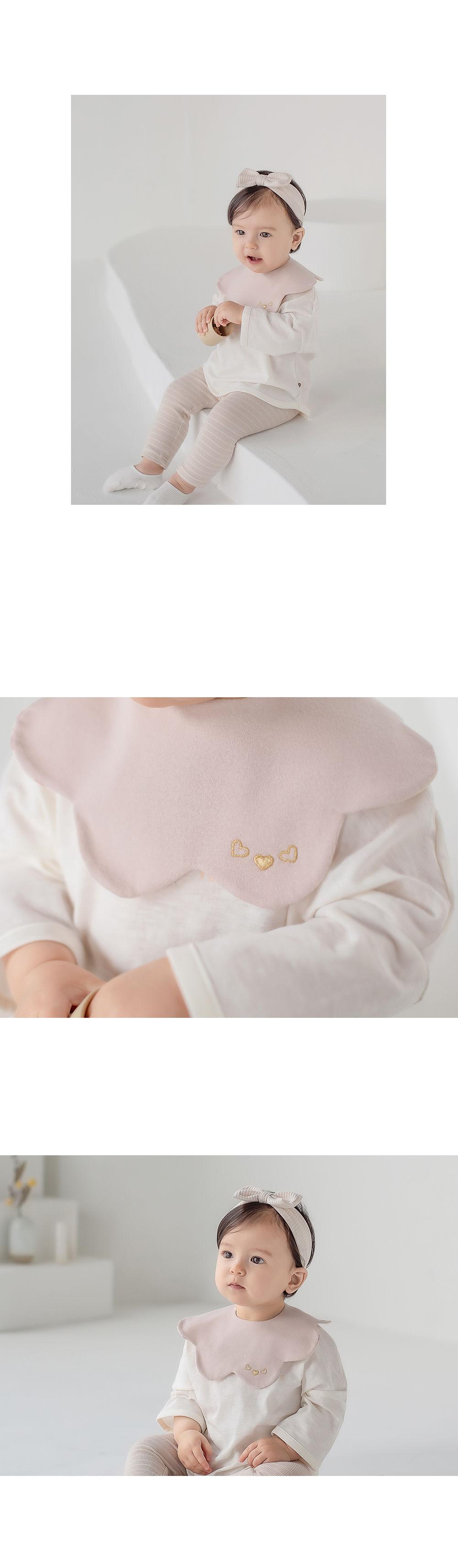 HAPPY PRINCE - Korean Children Fashion - #Kfashion4kids - Apple Baby Reversible Wave Bib - 5