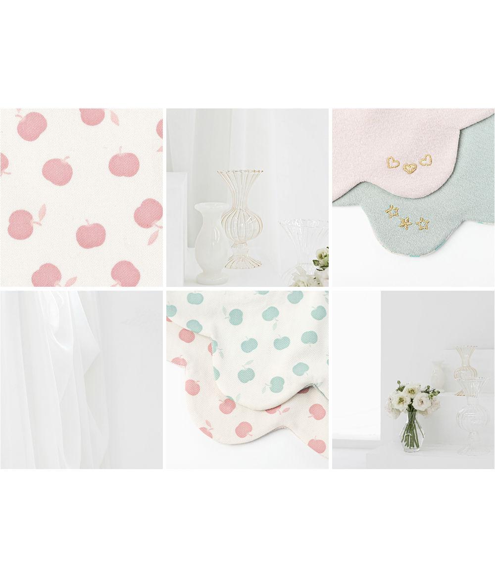 HAPPY PRINCE - Korean Children Fashion - #Kfashion4kids - Apple Baby Reversible Wave Bib - 6