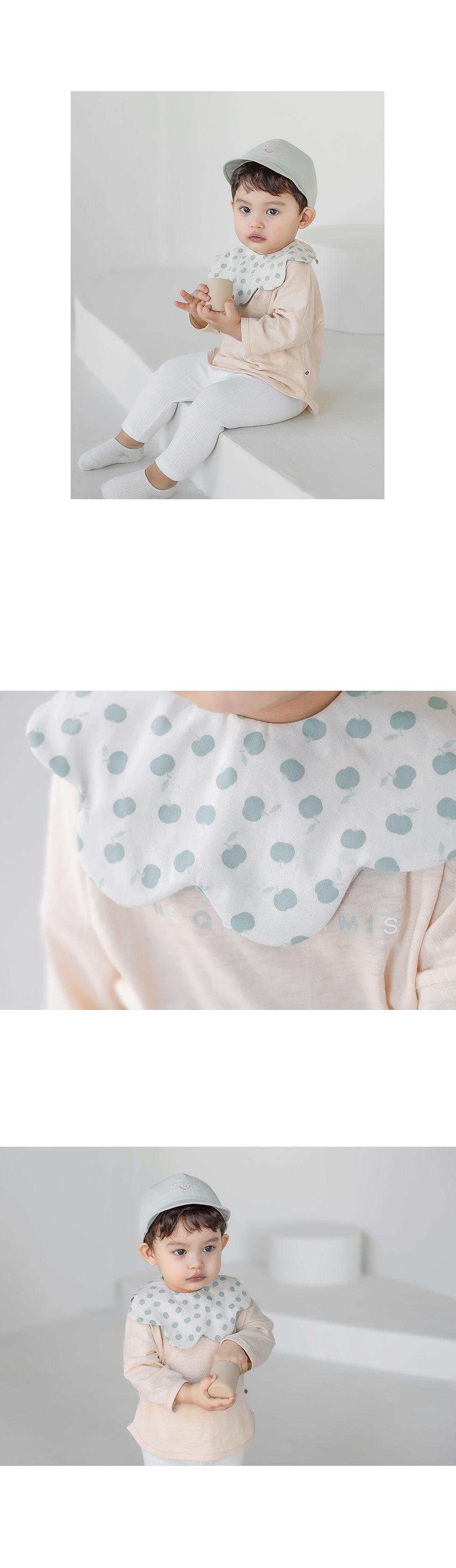 HAPPY PRINCE - Korean Children Fashion - #Kfashion4kids - Apple Baby Reversible Wave Bib - 7