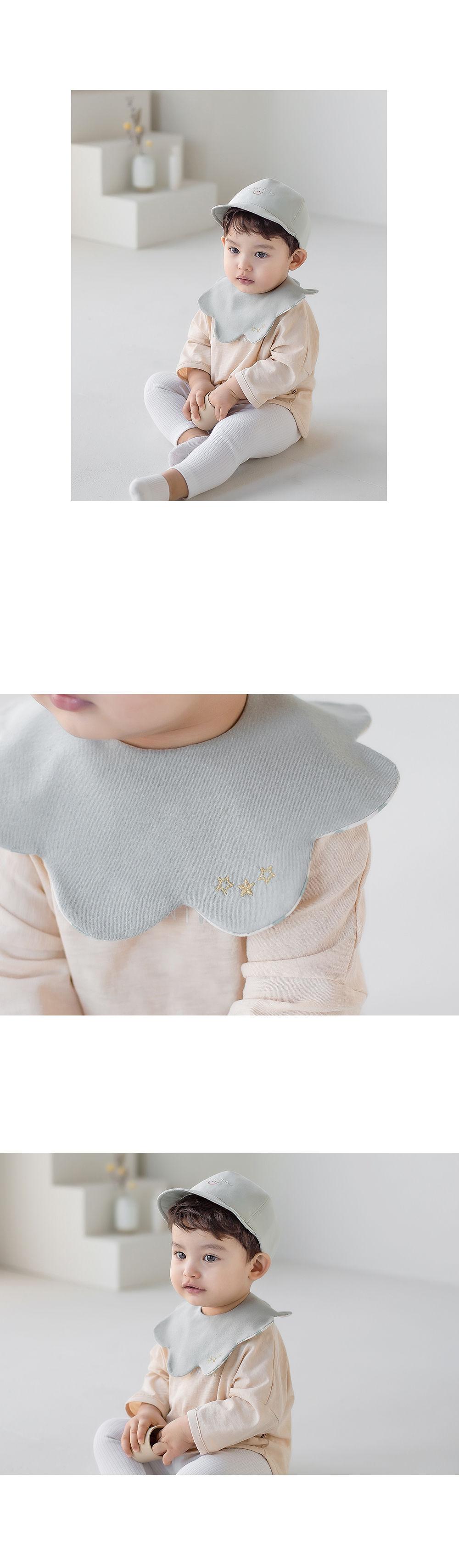 HAPPY PRINCE - Korean Children Fashion - #Kfashion4kids - Apple Baby Reversible Wave Bib - 8