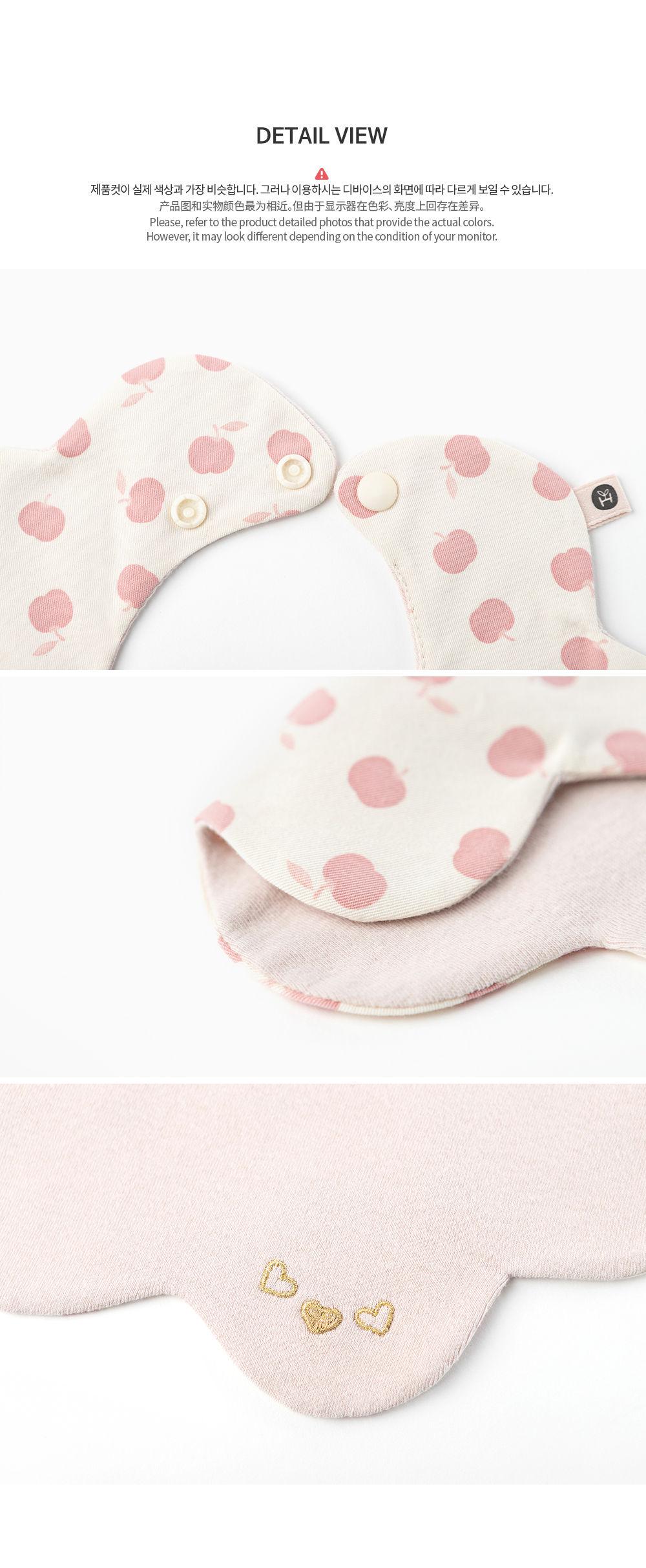 HAPPY PRINCE - Korean Children Fashion - #Kfashion4kids - Apple Baby Reversible Wave Bib - 9
