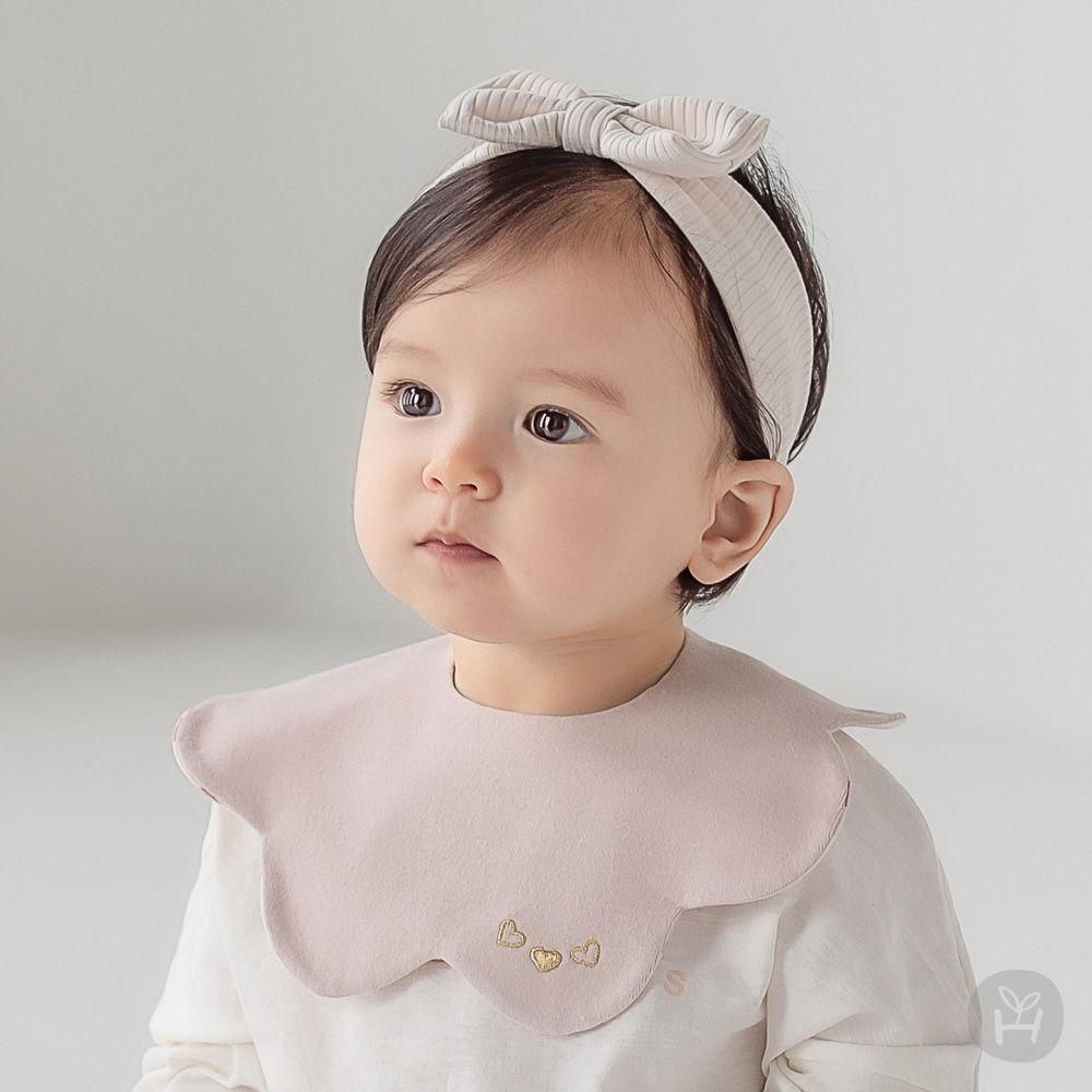 HAPPY PRINCE - BRAND - Korean Children Fashion - #Kfashion4kids - Apple Baby Reversible Wave Bib