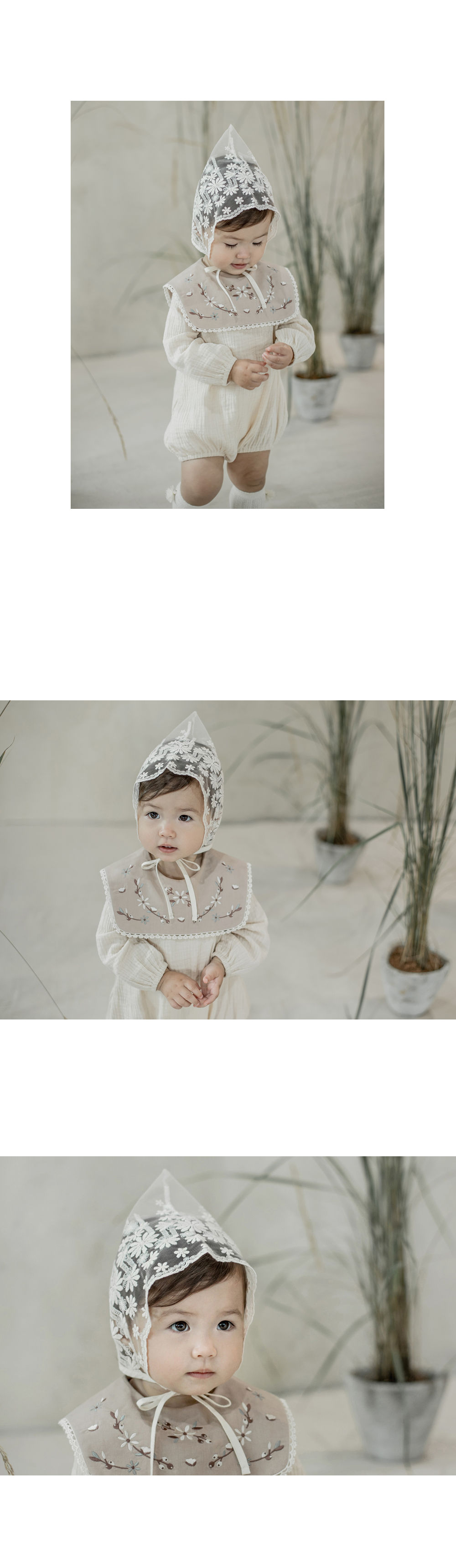 HAPPY PRINCE - Korean Children Fashion - #Kfashion4kids - Benjamin Lace Bonnet - 7