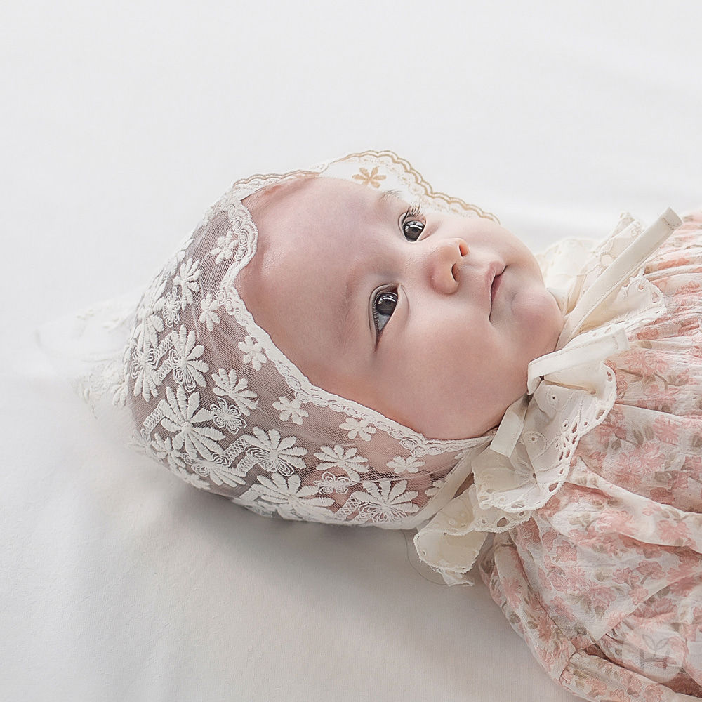 HAPPY PRINCE - BRAND - Korean Children Fashion - #Kfashion4kids - Benjamin Lace Bonnet