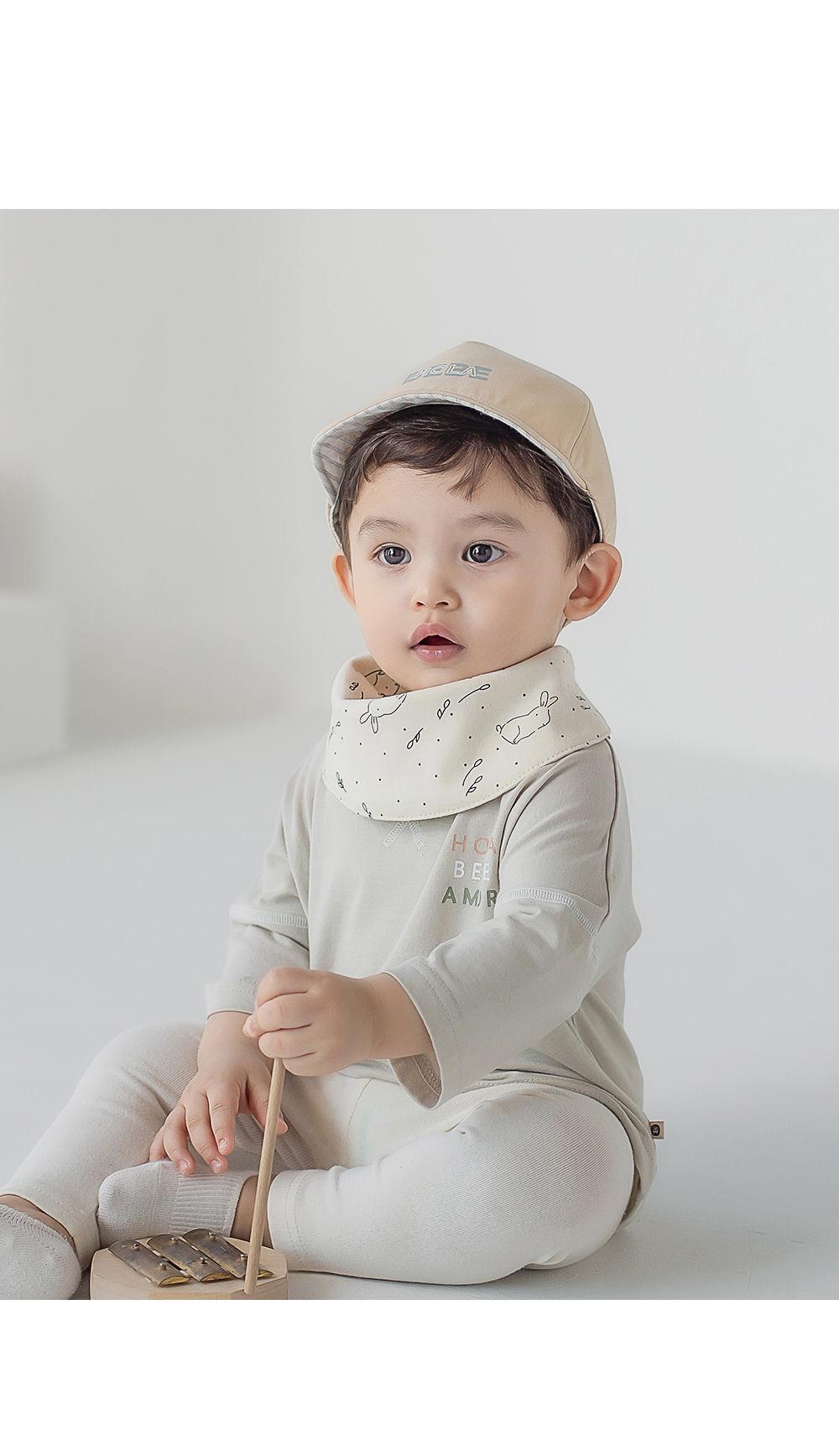 HAPPY PRINCE - Korean Children Fashion - #Kfashion4kids - Bunny Reversible Banana Bib - 2
