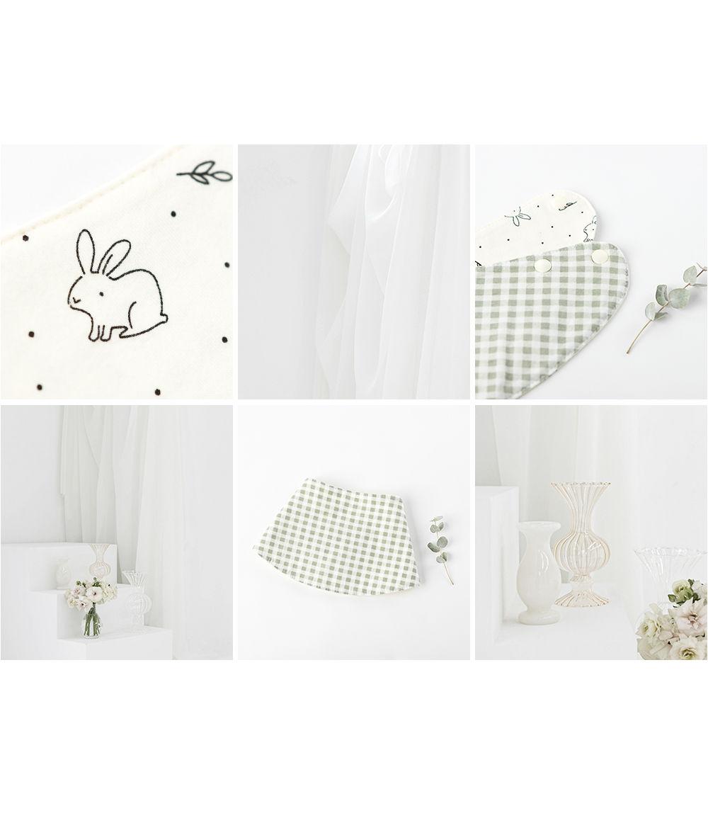 HAPPY PRINCE - Korean Children Fashion - #Kfashion4kids - Bunny Reversible Banana Bib - 6