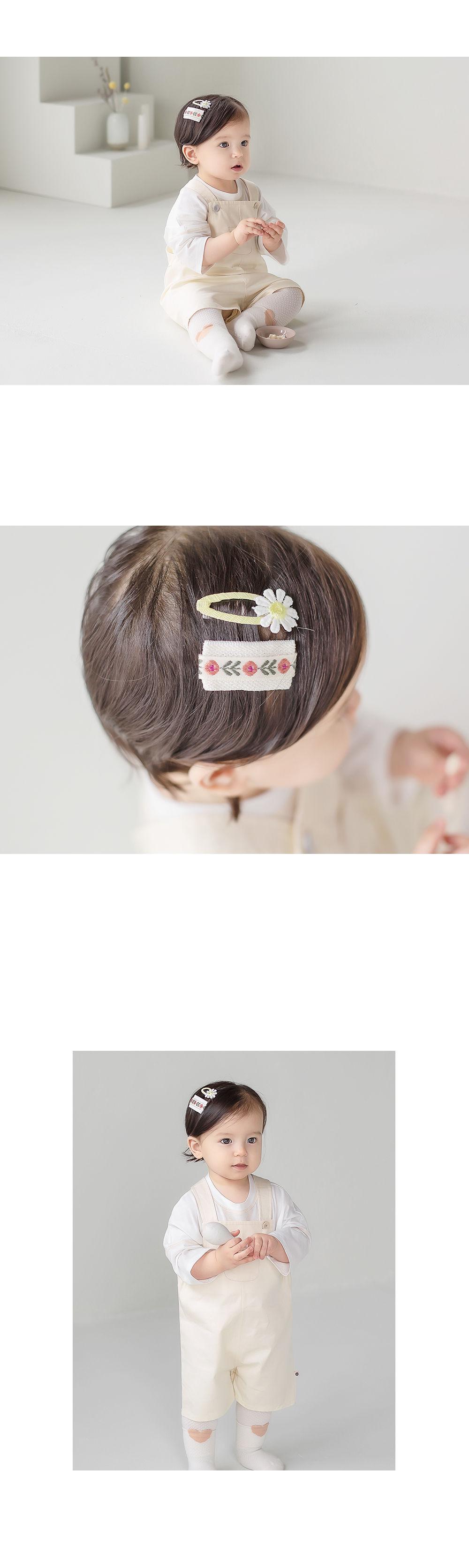 HAPPY PRINCE - Korean Children Fashion - #Kfashion4kids - Muaa Barrettes [set of 5] - 5