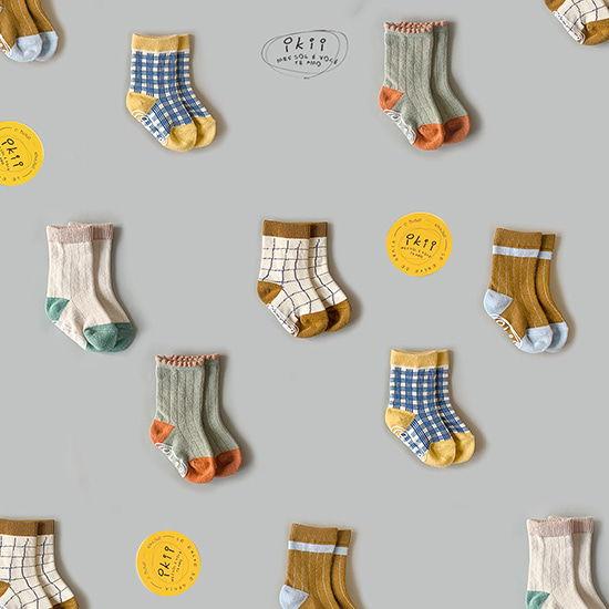 IKII - BRAND - Korean Children Fashion - #Kfashion4kids - Ikii Socks [set of 5]