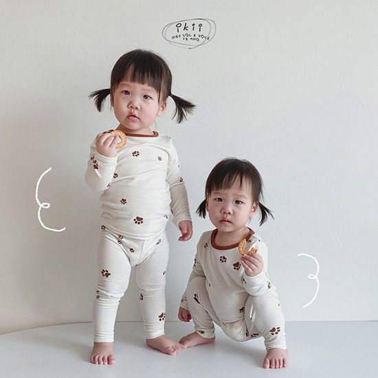 IKII - BRAND - Korean Children Fashion - #Kfashion4kids - Puppy Top Bottom Set