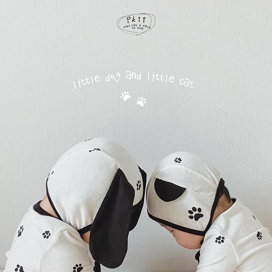 IKII - BRAND - Korean Children Fashion - #Kfashion4kids - Puppy Bodysuit with Bonnet